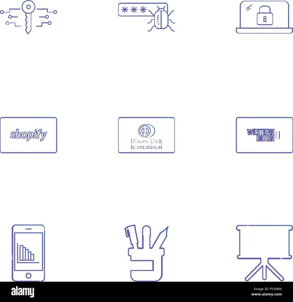 medium resolution of key password bug lock shopify club card western union mobile pen board icon vector design flat collection style creative ic