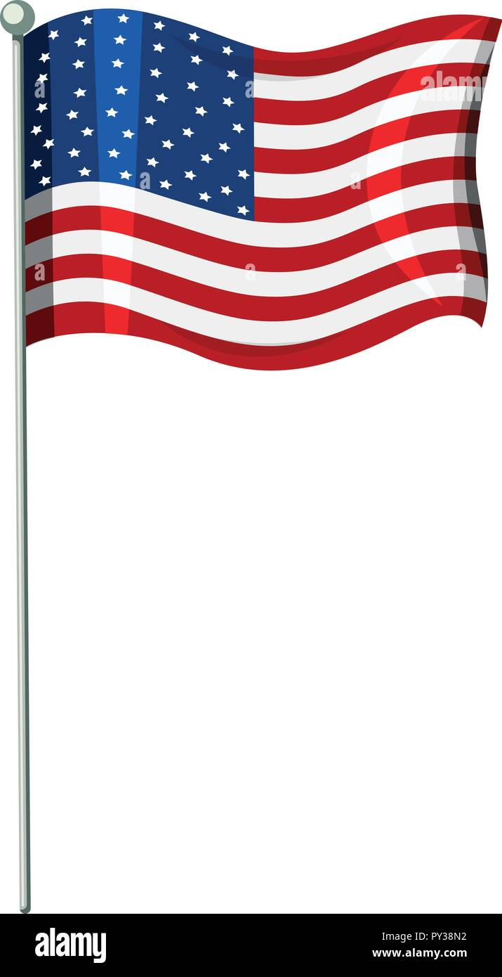 hight resolution of a united state of america flag illustration