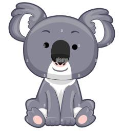 illustration of a koala bear sitting down stock image [ 1081 x 1390 Pixel ]