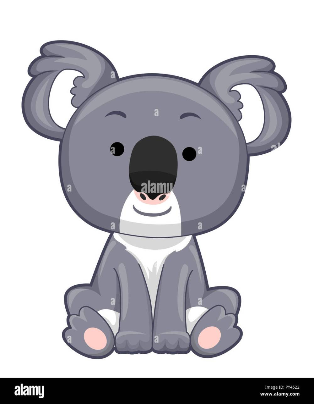 medium resolution of illustration of a koala bear sitting down stock image