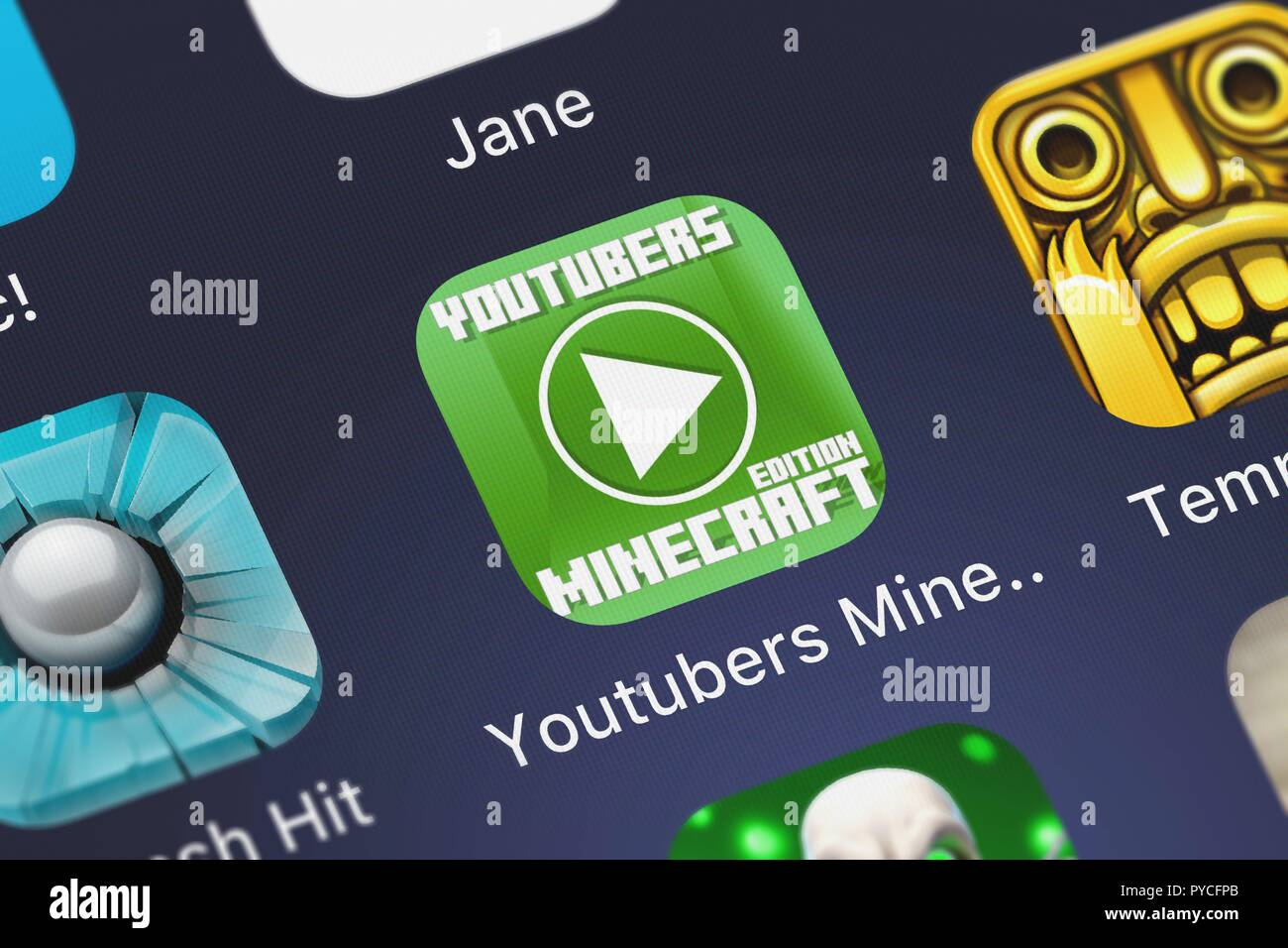 youtubers minecraft edition stock