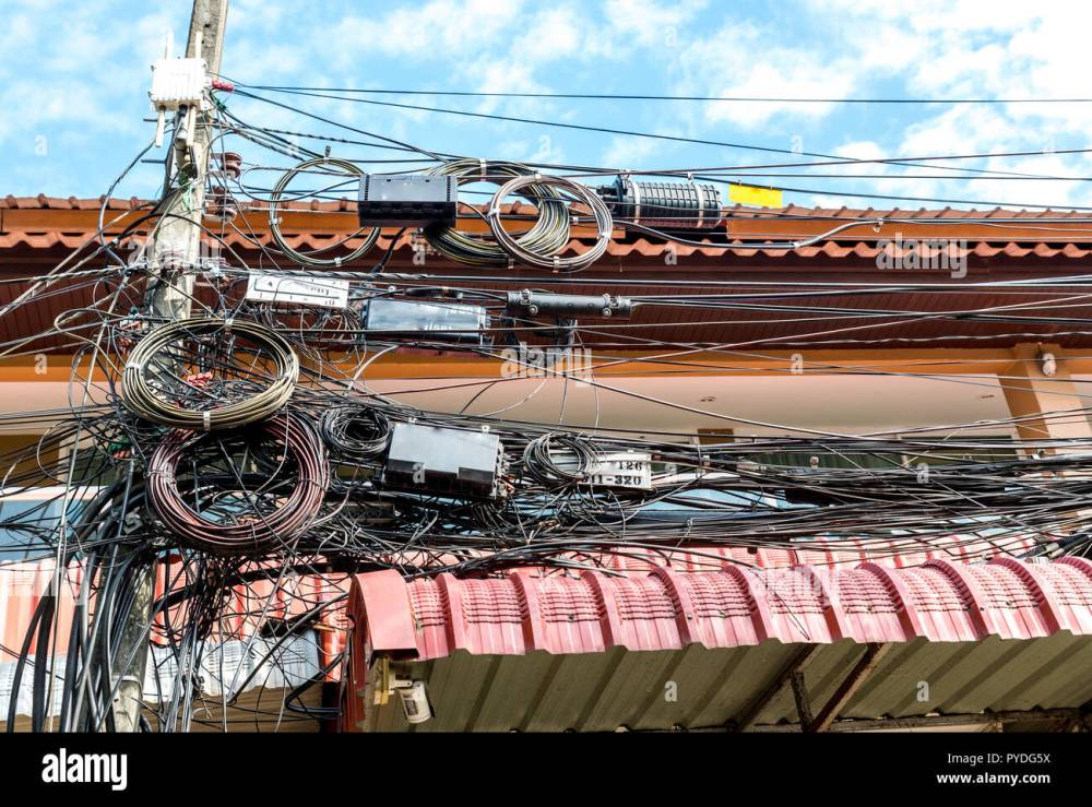 medium resolution of messy telephone and electrical wires in thailand