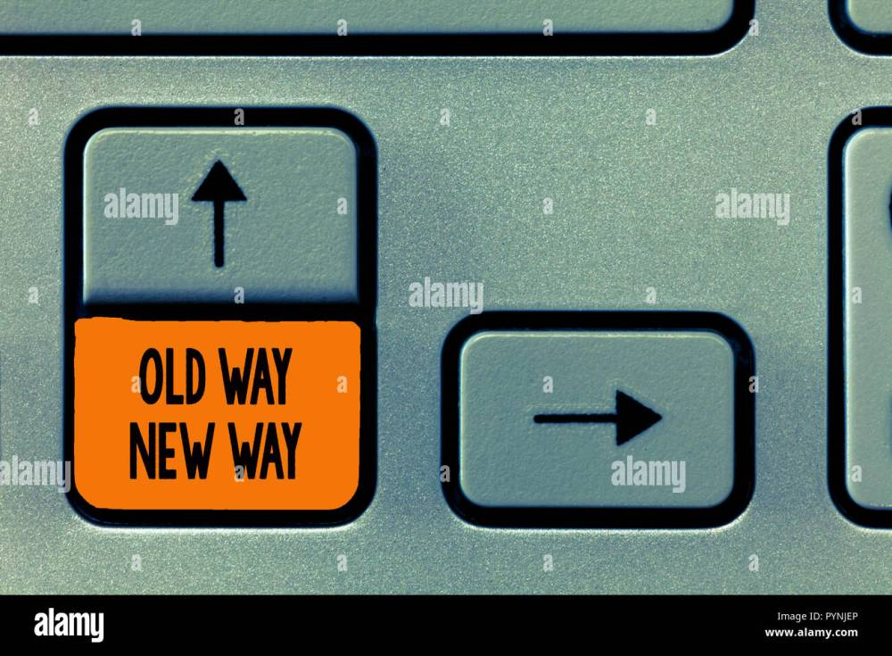 medium resolution of text sign showing old way new way conceptual photo the different way to fulfill the desired purposes