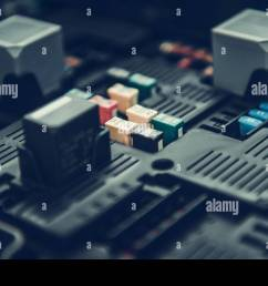 automotive fuses container car fuse box closeup photo automotive electrical systems stock [ 1300 x 956 Pixel ]