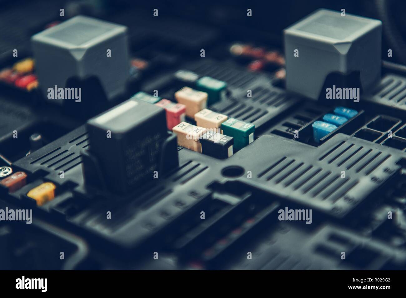 hight resolution of automotive fuses container car fuse box closeup photo automotive electrical systems stock