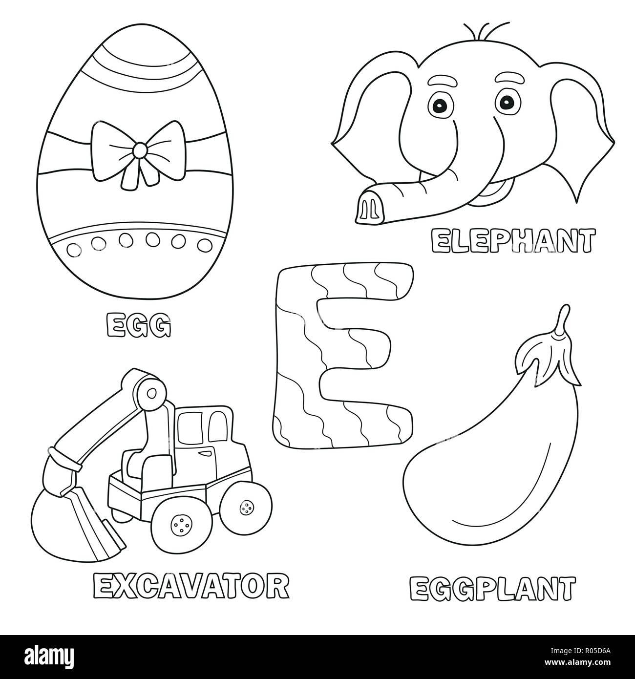 Cartoon Illustration Cute Capital Letter Stock Photos