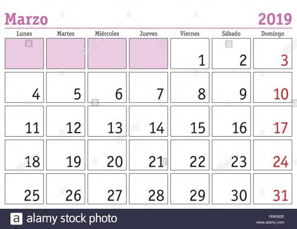 Calendario 2019 Stock Photos Calendario 2019 Stock