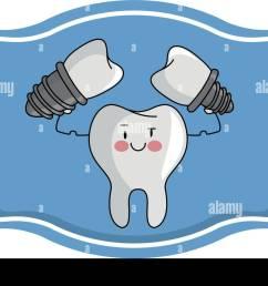 dental care cartoon over label frame [ 1300 x 924 Pixel ]