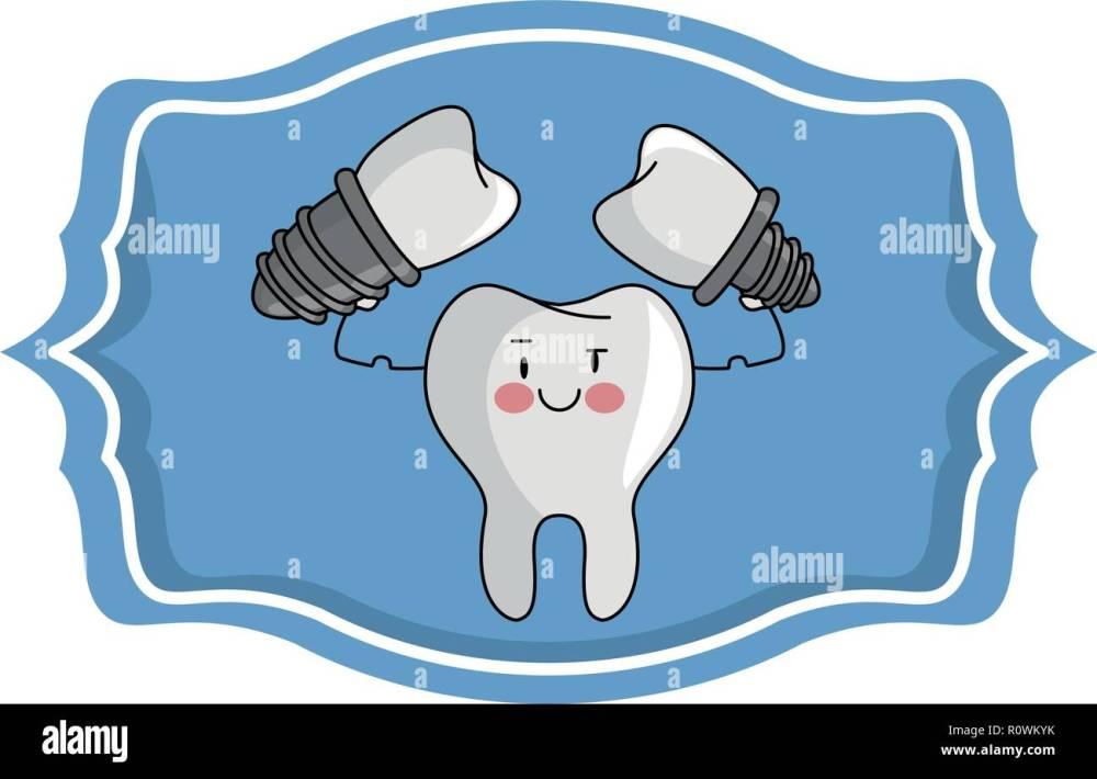 medium resolution of dental care cartoon over label frame