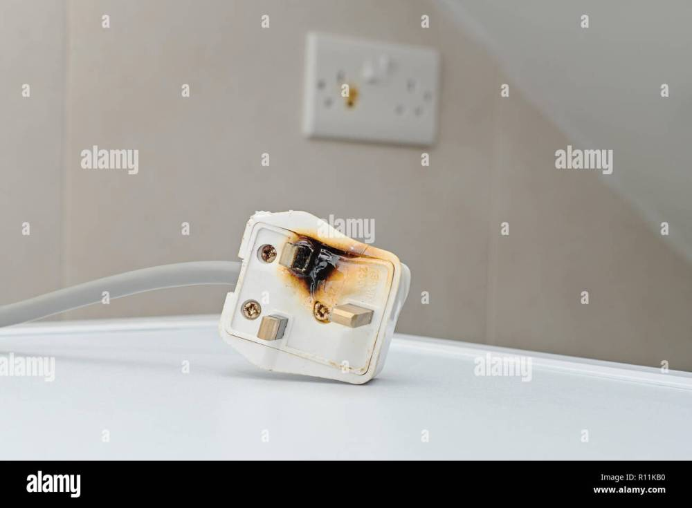 medium resolution of burned 250v uk style socket and converter improper use of ac power plugs and sockets