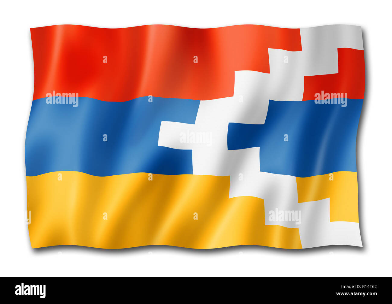 nagorno karabakh flag three