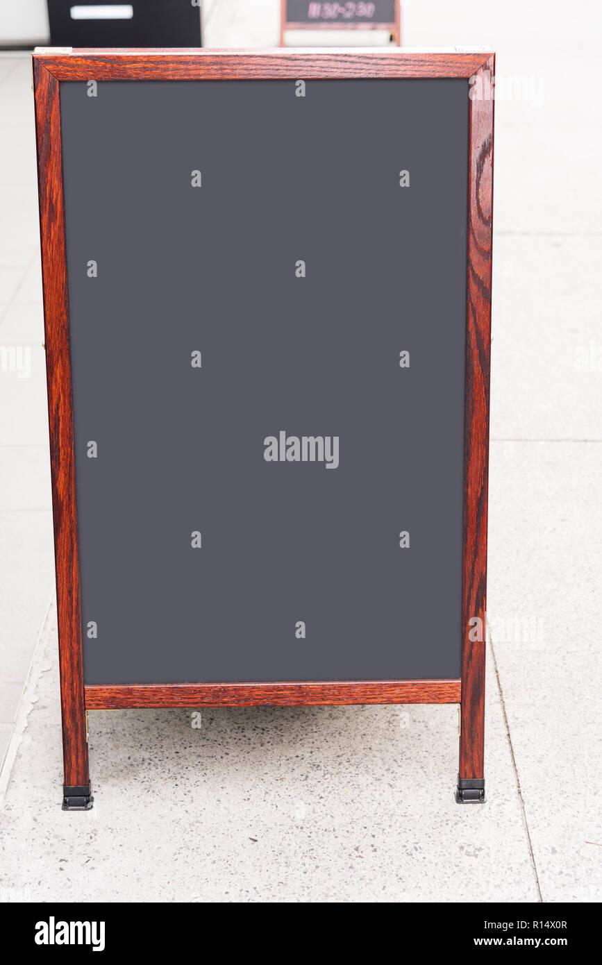 chalk board street stand