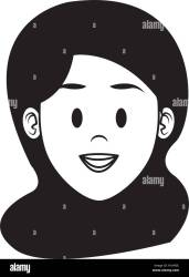 Woman face cartoon in black and white vector illustration graphic design Stock Vector Image & Art Alamy