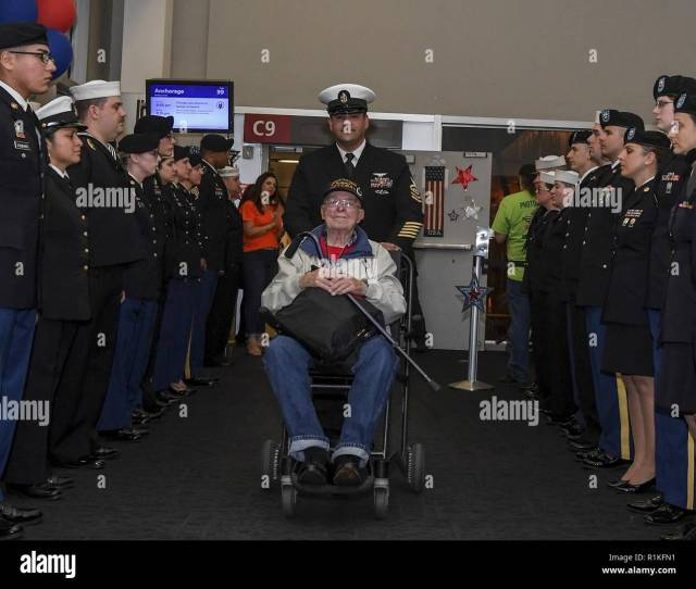 Seattle Wash Oct   Chief Aviation Ordnanceman Juan Nevarez Assigned To Naval Base Kitsap Escorts A Vietnam War Veteran Through Side Boys After