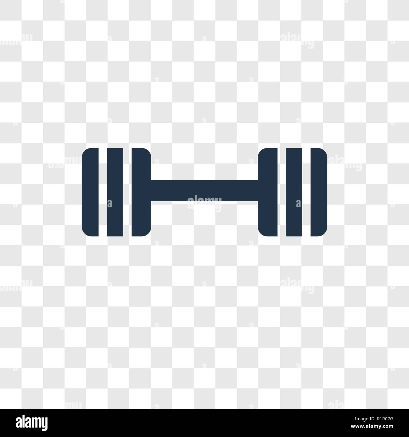 barbell vector icon isolated