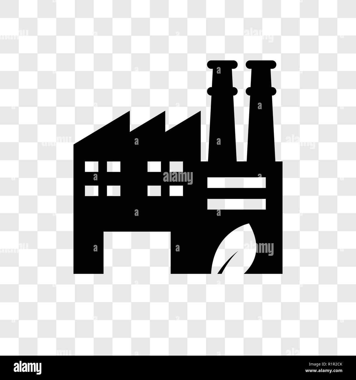 eco factory vector icon