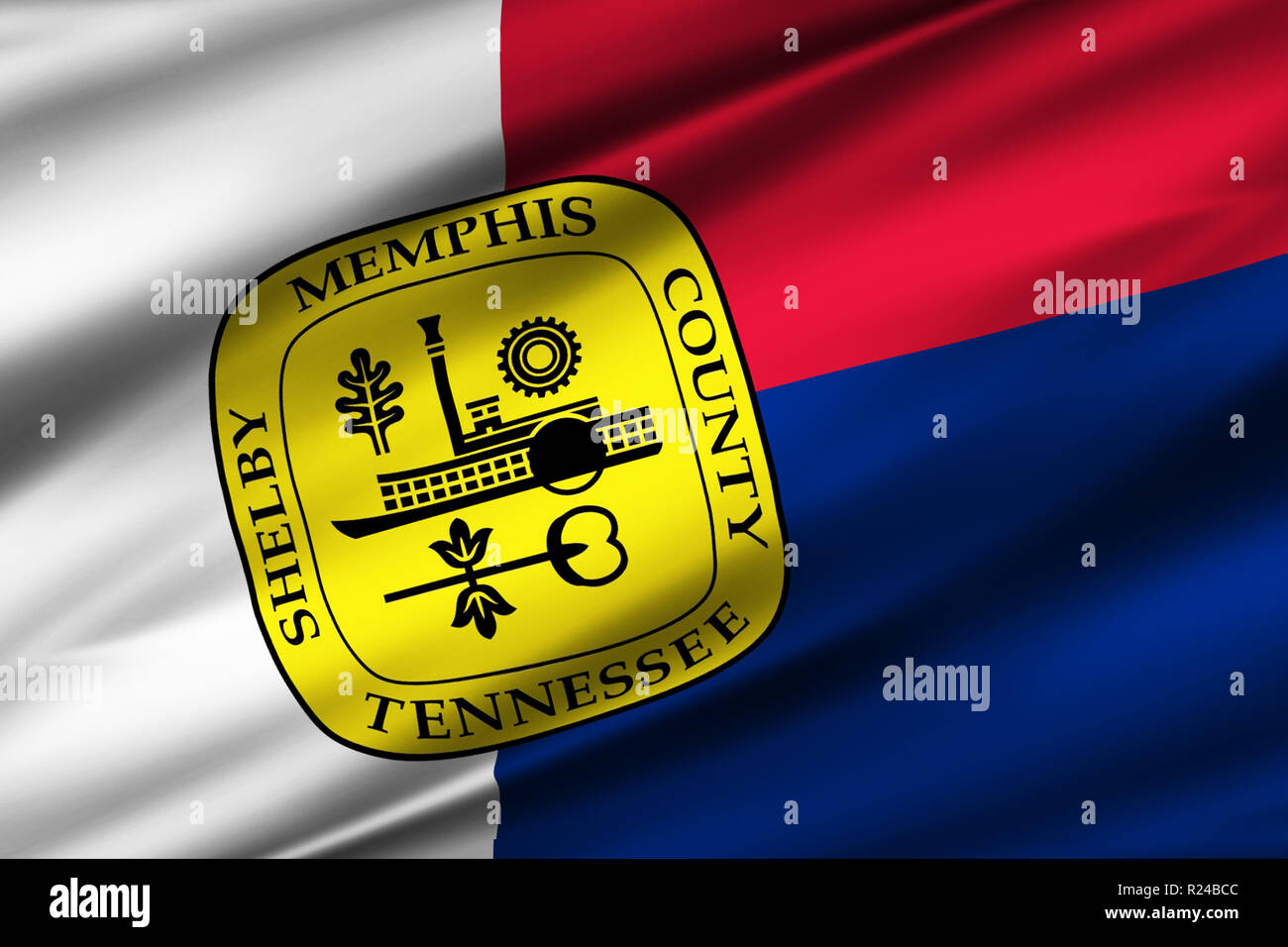 hight resolution of memphis tennessee 3d waving flag illustration texture can be used as background stock