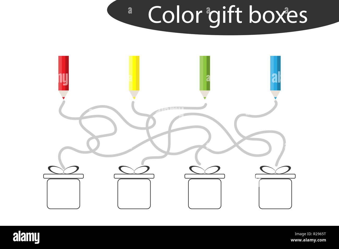 Chrismas Labyrinth Game Maze And Coloring The T Boxes