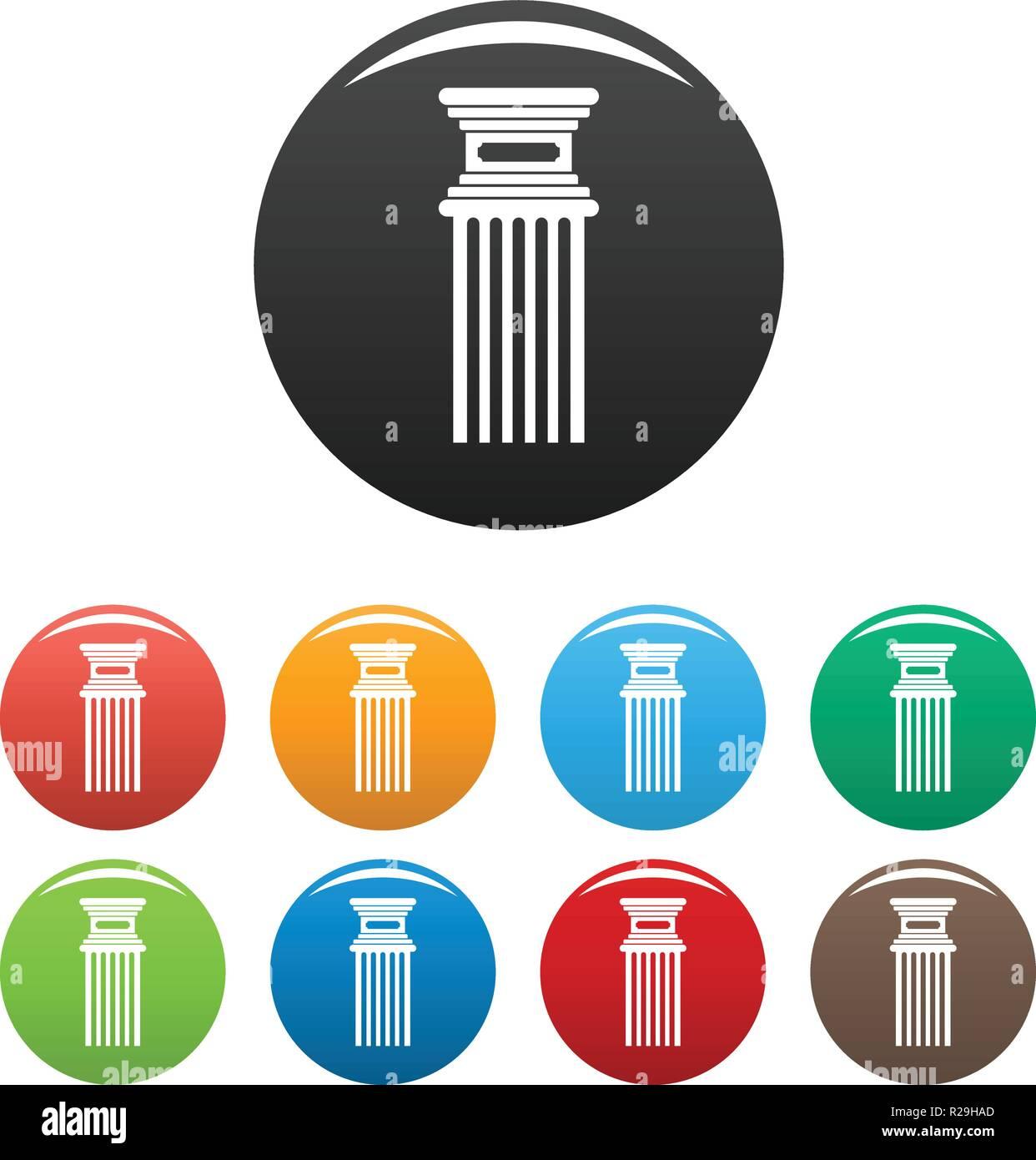 antique column icon simple