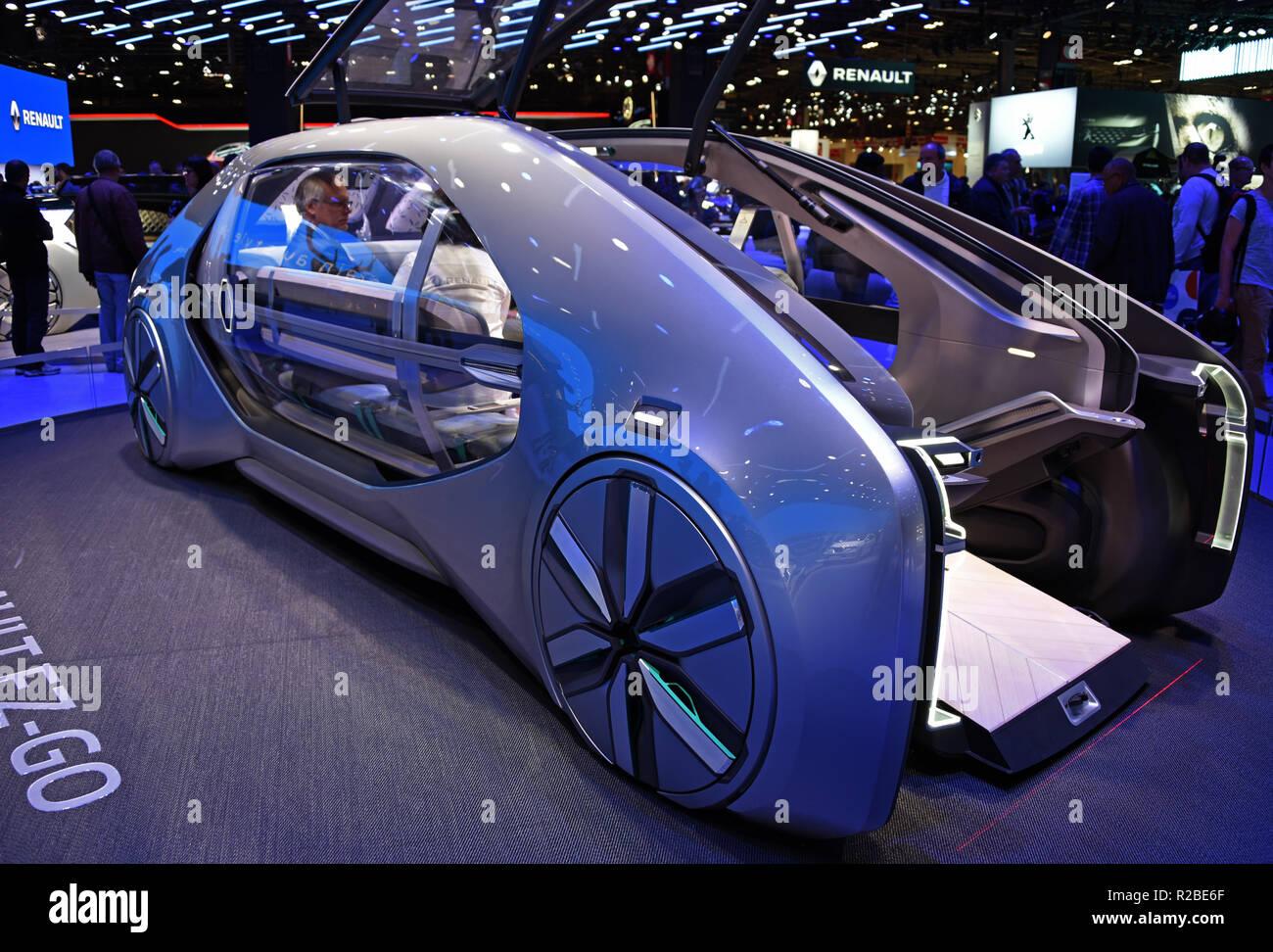 hight resolution of renault ez go concept car full electric mondial paris motor show paris france europe