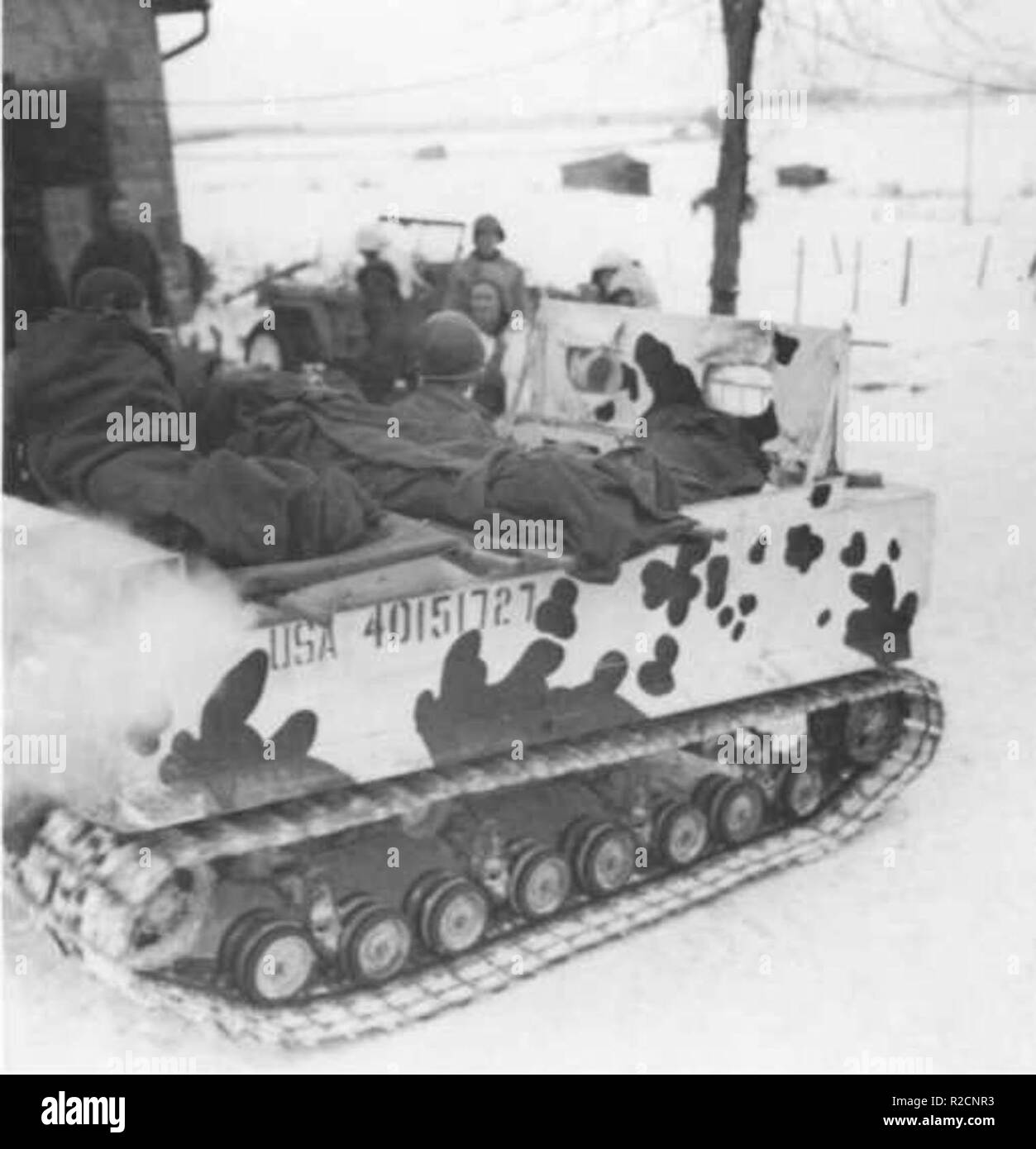 hight resolution of m29 weasel in winter 1944 stock image