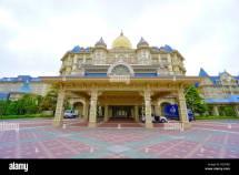 Restaurant Entrance Disneyland Amusement Park Stock
