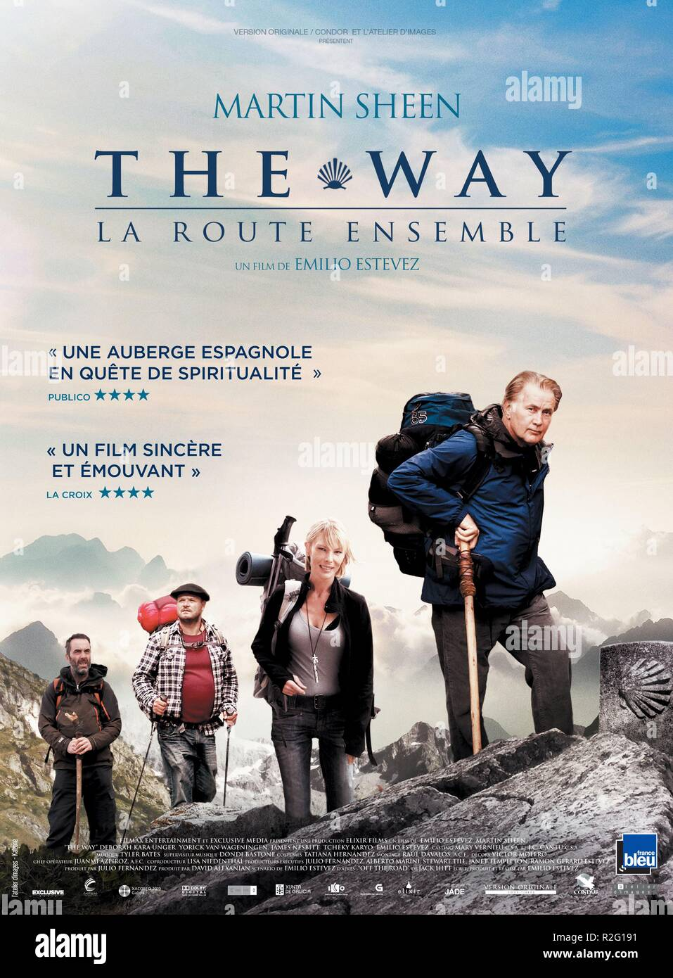 The Way, La Route Ensemble : route, ensemble, Spain, Director, Emilio, Estevez, Deborah, Unger,, James, Nesbitt,, Yorick, Wageningen,, Martin, Sheen, Movie, Poster, Stock, Photo, Alamy