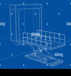 dock leveler concept vector stock image [ 1300 x 966 Pixel ]
