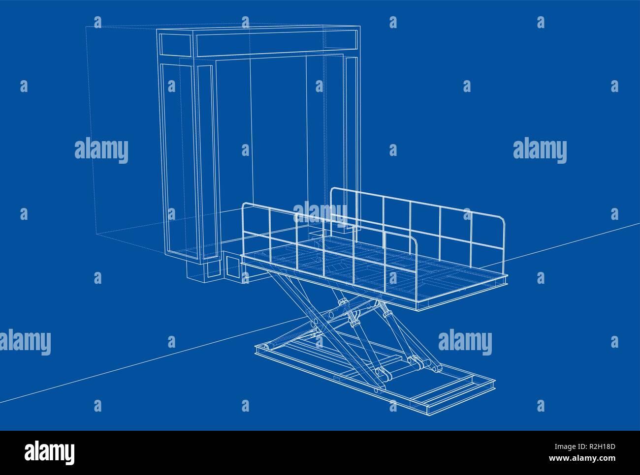 hight resolution of dock leveler concept vector stock image