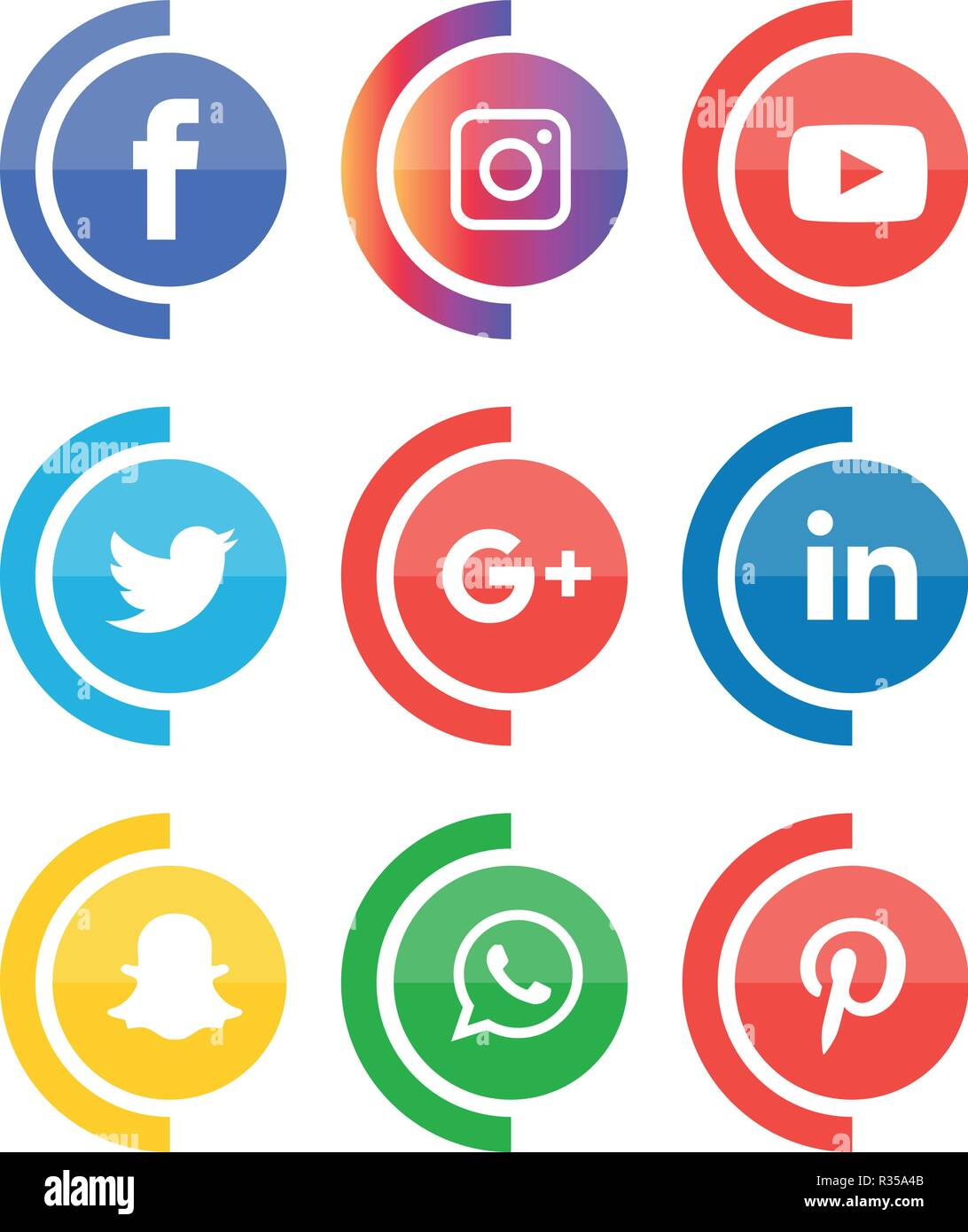 Facebook Instagram Twitter Logo : facebook, instagram, twitter, Social, Media, Icons, Vector, Illustrator,, Facebook,, Instagram,, Twitter,, Whatsapp,, Communication,, Google, Plus,, Device,, Youtube,, Smart,, Phone,, Stock, Image, Alamy