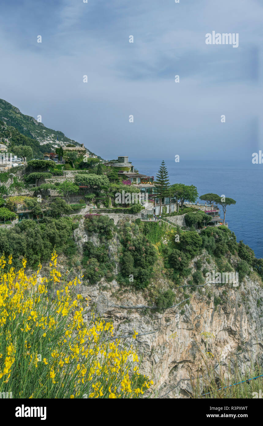 Italy Amalfi Coast Positano Hotel San Pietro Stock Photo