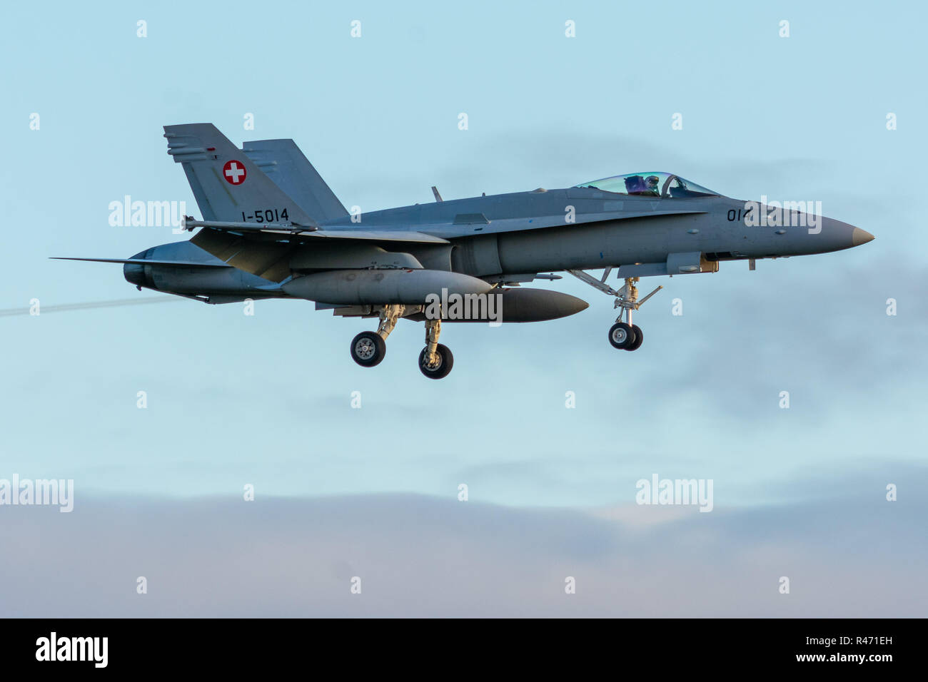 hight resolution of swiss airforce f18 hornet stock image