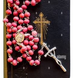 the bible with rosary stock image [ 866 x 1390 Pixel ]