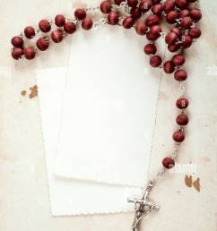 rosary and blank cards stock image [ 866 x 1390 Pixel ]
