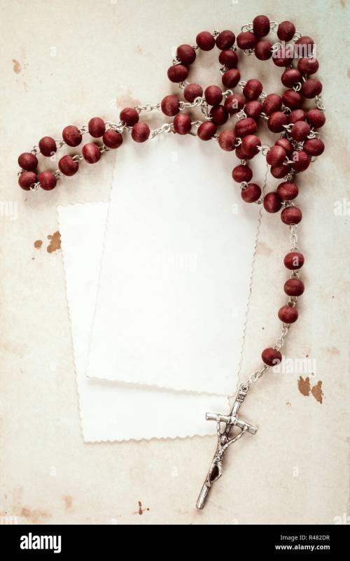 small resolution of rosary and blank cards stock image