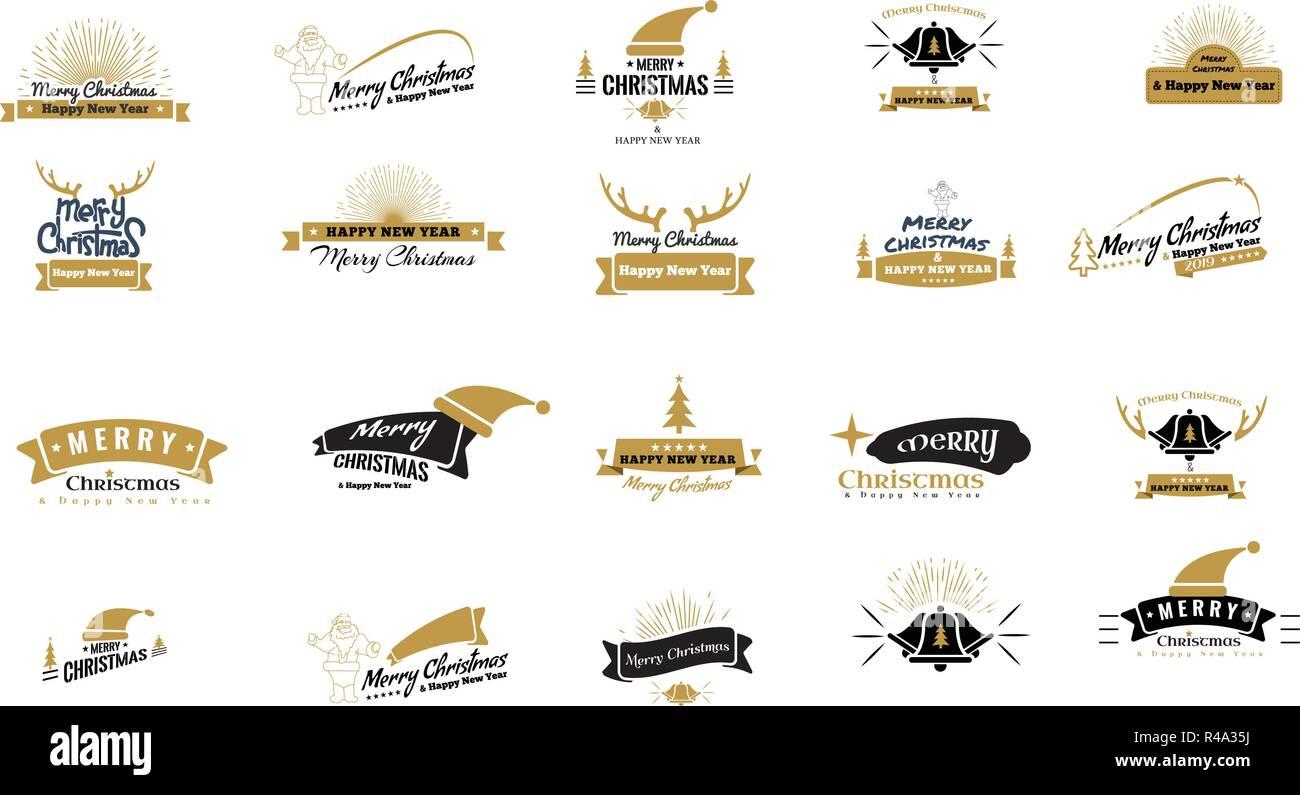 merry christmas emblem symbols