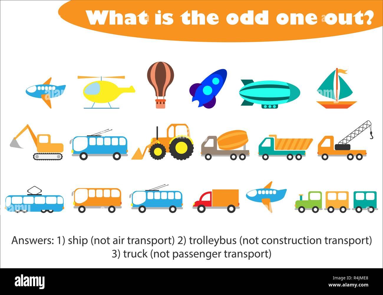 Transportation Cartoon Children Truck Stock Photos