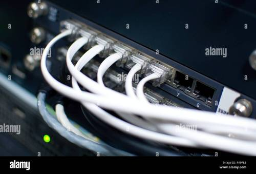 small resolution of telephone cables stock image
