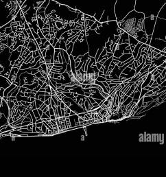 urban vector city map of hastings england stock image [ 1300 x 763 Pixel ]