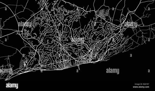 small resolution of urban vector city map of hastings england stock image
