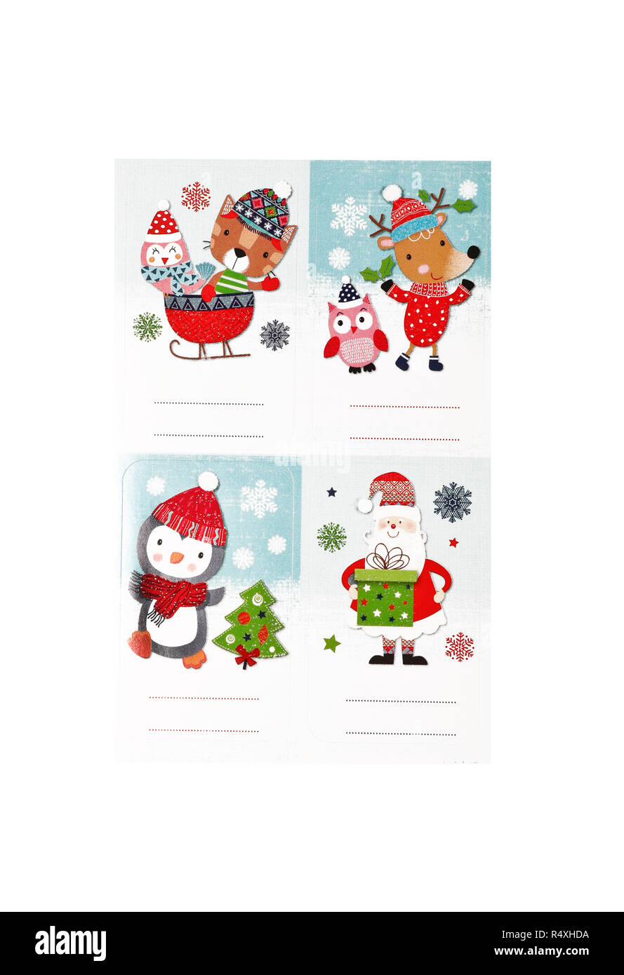 christmas stickers ready to