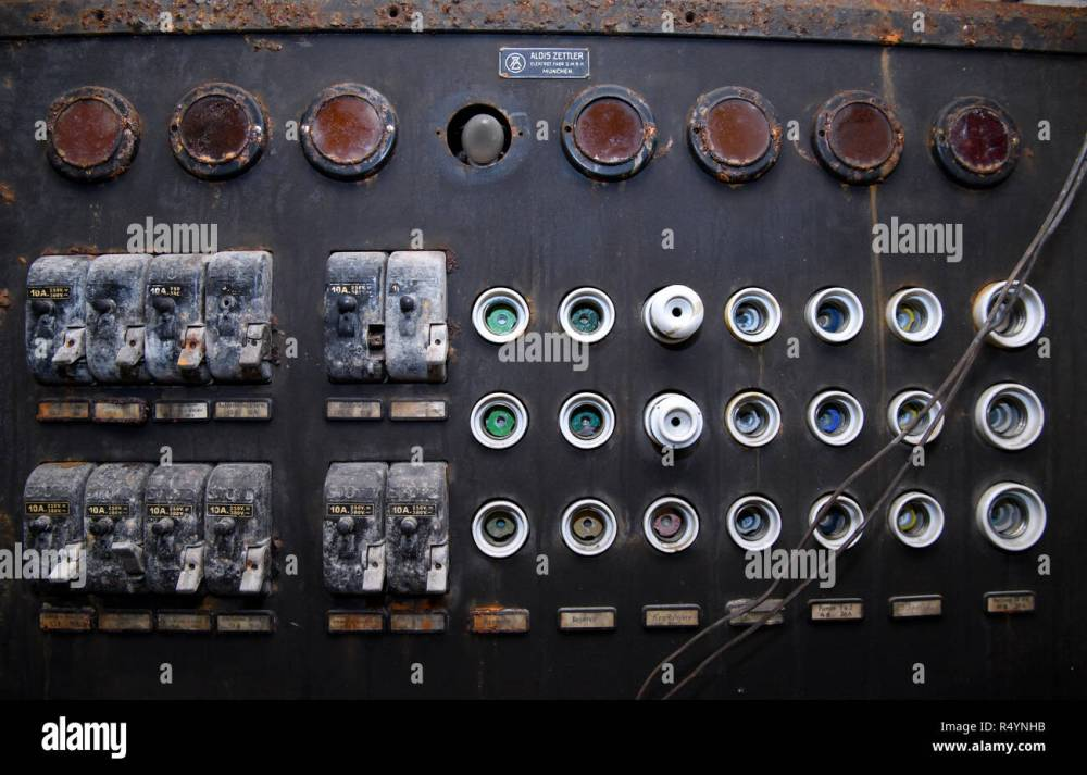 medium resolution of 09 november 2018 bavaria pullach an old fuse box can be seen in a bunker under the presidential villa on the premises of the federal intelligence service