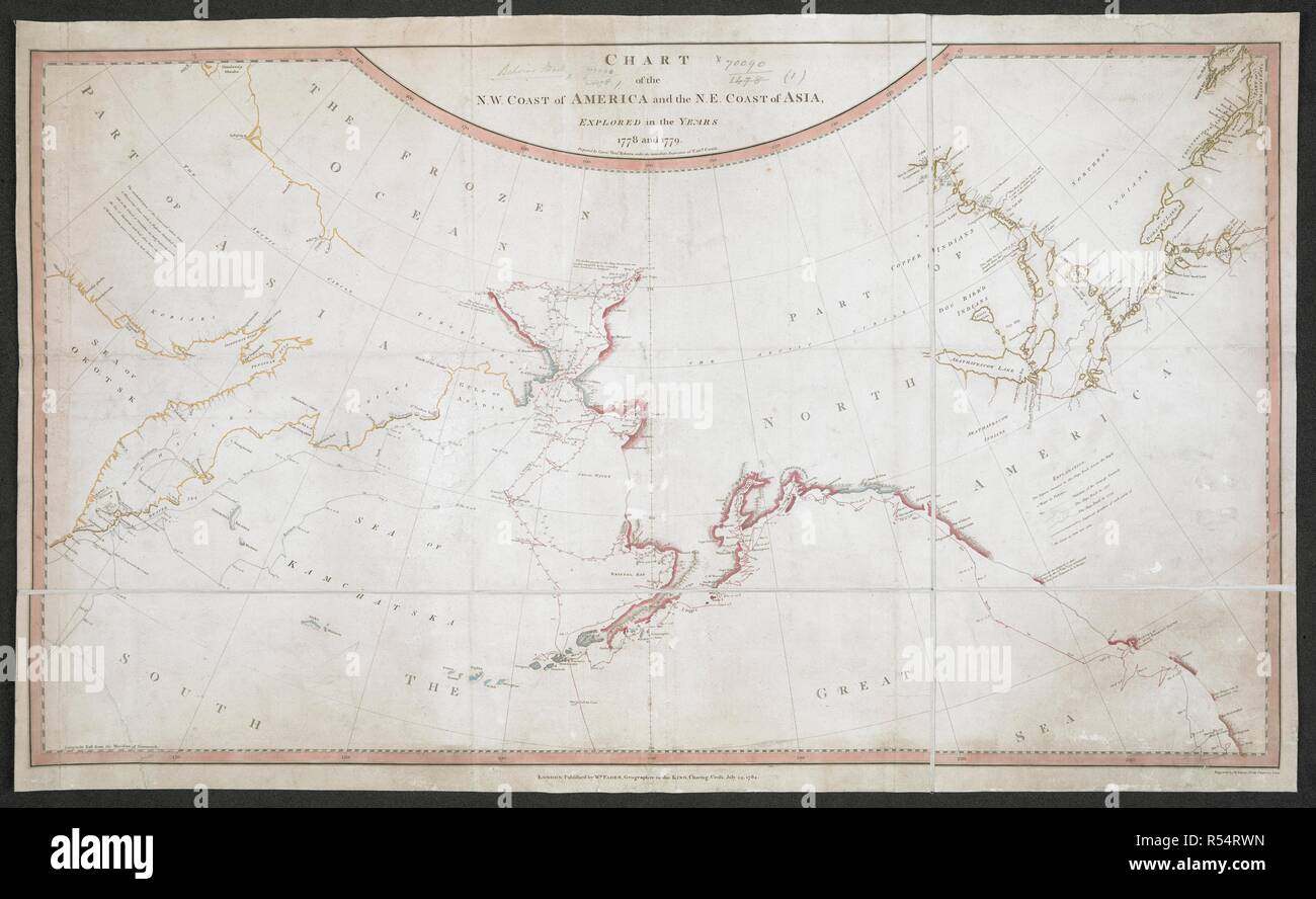 A Chart Of The North West Coast Of America And The North East Coast Of Asia Chart Of The N W Coast Of America And The N E Coast Of Asia Explored