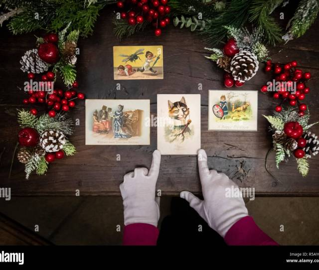 Rachael Bowers Assistant Curator Of Social History At York Castle Museum With Victorian Christmas Cards
