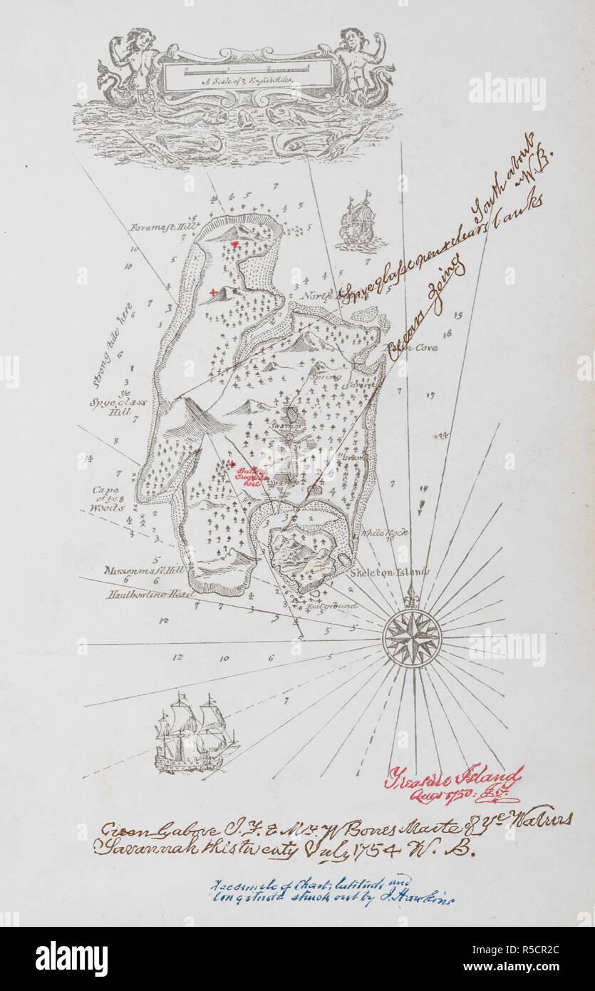 Carte Au Tresor De Chick : carte, tresor, chick, Treasure, Island, Stevenson, Resolution, Stock, Photography, Images, Alamy