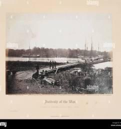 pontoon bridge across the james june 1864 gardner s photographic [ 1300 x 1187 Pixel ]
