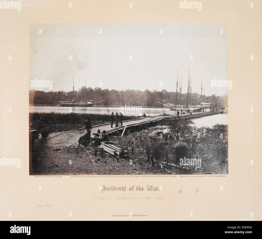 medium resolution of pontoon bridge across the james june 1864 gardner s photographic