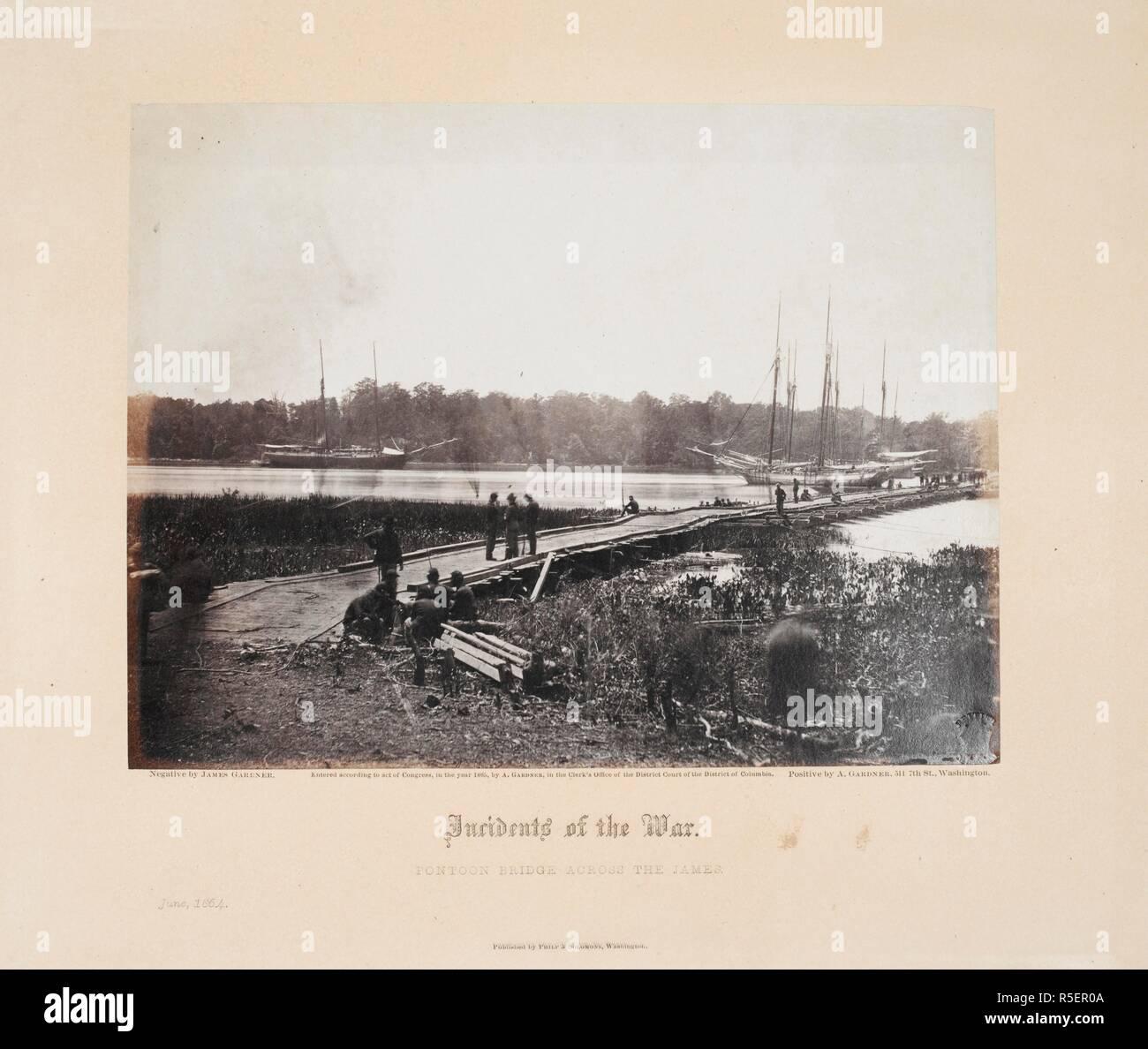 hight resolution of pontoon bridge across the james june 1864 gardner s photographic