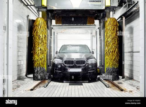 small resolution of moscow russia 09 06 2018 black bmw in car wash