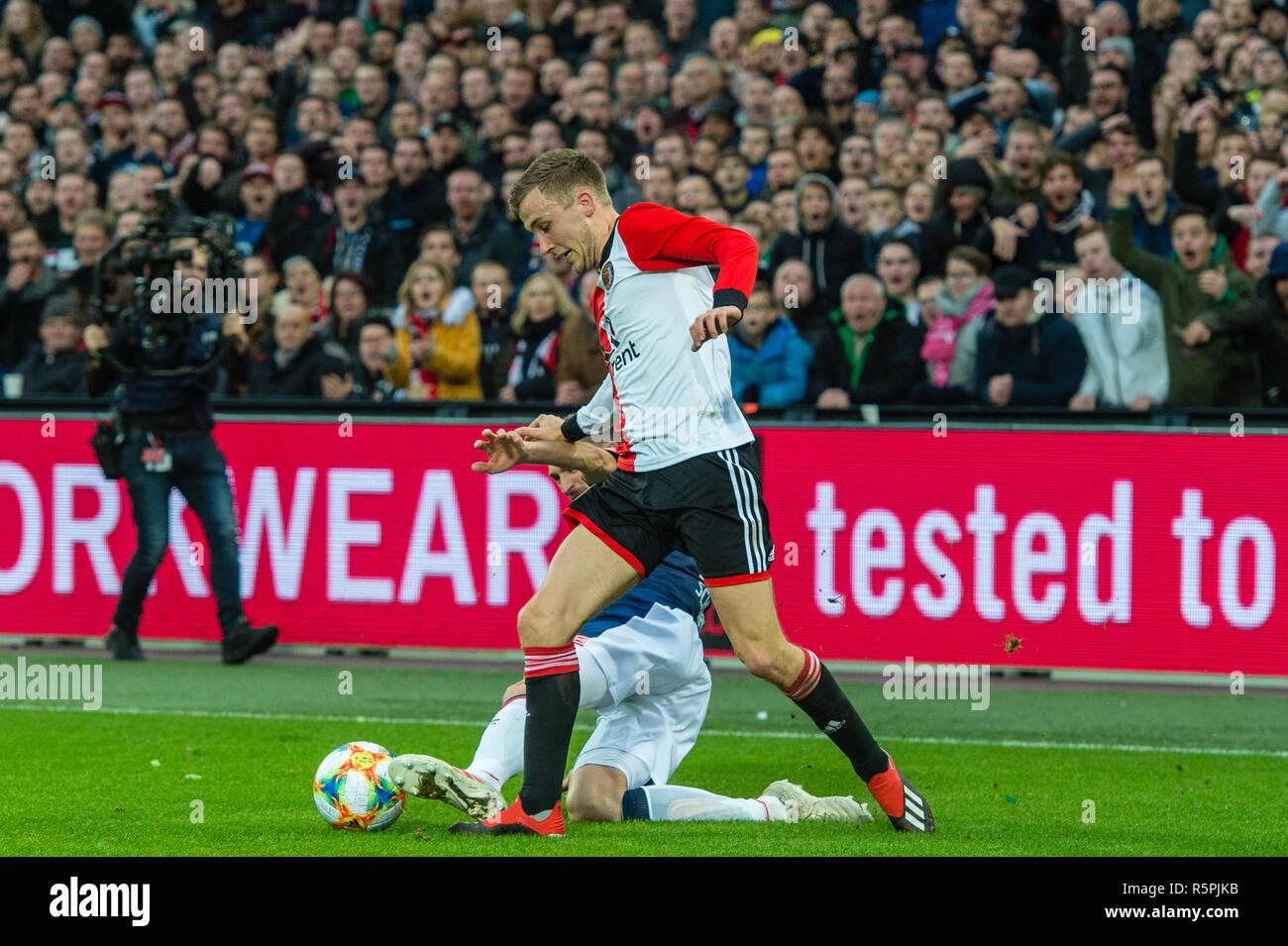 https www alamy com rotterdam netherlands 2 december 2018 soccer dutch eredivisie feyenoord v psv eindhoven l r credit orange pictures vofalamy live news image227305663 html